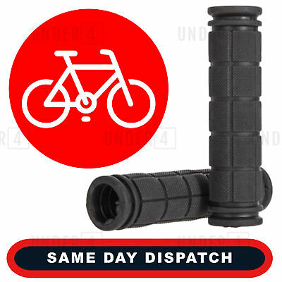 UK Soft Rubber Anti Skid Handle Bar Grips Bike Bicycle Cycle Universal Black • 3.98£