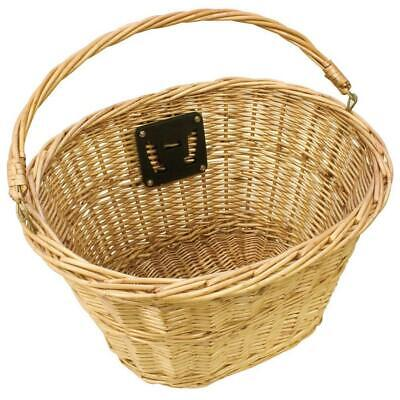 Bicycle Front Wicker Basket Including Mounts • 14.82£