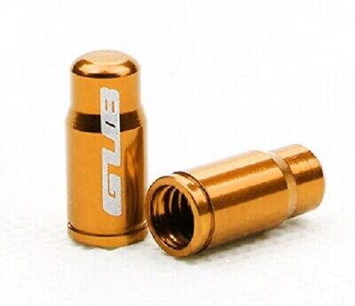 2 X GUB GOLD  ALUMINIUM PRESTA VALVE CAP/DUST COVER  *UK SELLER* • 1.99£