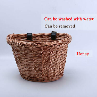 Bicycle Bike Front Wicker Wire Shopping Basket Luggage Handlebar (XS) New Hot • 6.39£