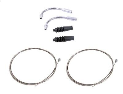 ***2 X Barrel End Brake Cables & New V Brake Noodles/pipes And Rubbers*** • 4.29£