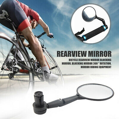 1 Pc Bicycle Handlebar End Mirrors 360 Rotatable Bike Side Rearview Mirrors UK • 2.98£