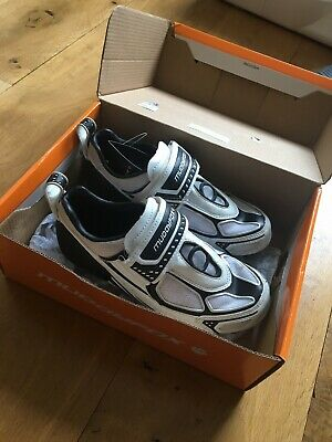 Muddyfox TRI 100 Junior White / Black Cycling Shoe • 12£