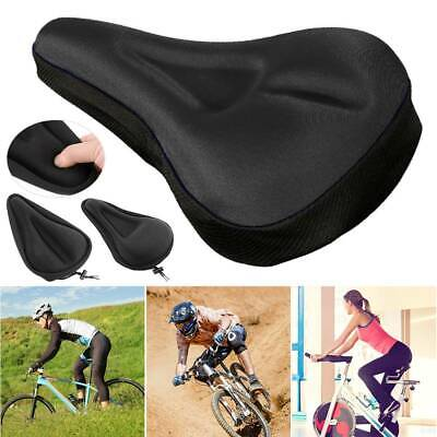Bike Bicycle 3D Mountain Gel Silicone Saddle Seat Cover Pad Padded Soft Cushion • 3.56£