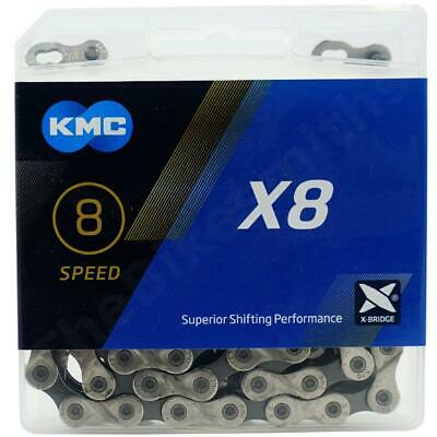 KMC X8.93 Silver/Grey 8 Speed Chain For Road & MTB Cycling • 13.79£