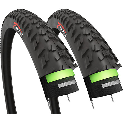 Fincci Pair 26 X 1.95 Tyres Antipuncture 60TPI For MTB Mountain Bike Bicycle • 29.90£