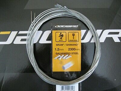 JAGWIRE-GALVANISED INNER GEAR CABLES X 4 With End Crimps   *NEW* • 3.95£