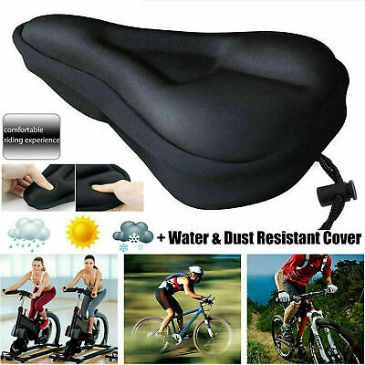 Mountain Bike Comfort Soft Gel Pad Comfy Cushion Saddle Seat Cover Bicycle Cycle • 6.99£