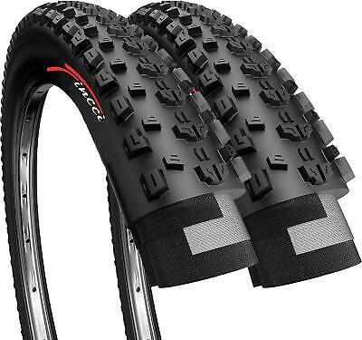 Fincci Pair 26 X 1.95 Foldable Tyres For Mountain MTB Dirt Offroad Bike Bicycle • 17.90£