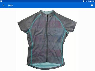 New Primal Women's Emery Ramber Cycling Jersey XL GREY/BLUE. RRP £33 See Photo  • 12£