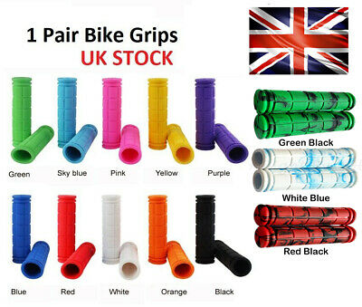 UK Soft Bike Handlebar Grips Hand Grip MTB BMX Cycle Road Mountain Bike Bicycle • 2.99£