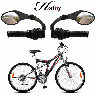 Hafny Bike Handlebar Rear View Rearview Mirror Bicycle 360 Rotate Foldable Clear • 22.98£