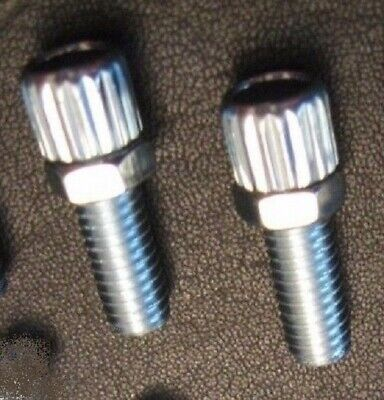 PAIR Of M6 STEEL Barrel Cycle Brake Cable Adjuster Bolt Screw And Nut ***NEW***  • 2.99£