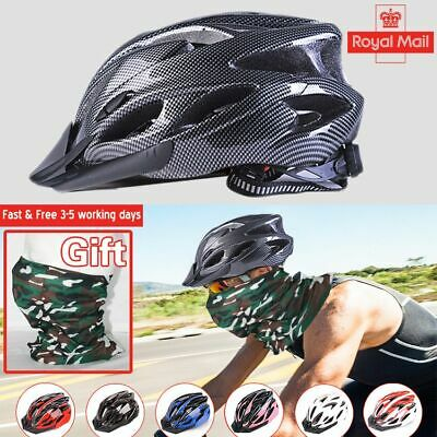 Road Cycling Helmet Mountain Bike Adjustable Mens Bicycle Protect Safety Helmet • 13.91£