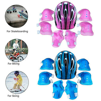 7Pcs/Set Boys Girls Kids Safety Helmet & Knee & Elbow Pad For Cycling Skate Bike • 9.89£