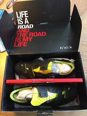 Fizik R4 Carbon Boa Uk 11.5 / 46.5 Cycling Road Shoes With Cleats • 30£