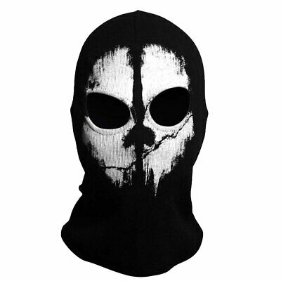 TRIXES Ghost Mask - Balaclava Motorcycling Paintball One Size Colour Black • 5.49£