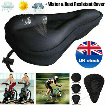 Extra Wide Comfy Cushioned Bike Seat Soft Padded Bicycle Universal Saddle MTB • 6.47£