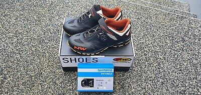 Northwave Spider Plus2 MTB Shoes, Size 42 UK8.5 SPD MTB Style FREE PEDALS • 100£