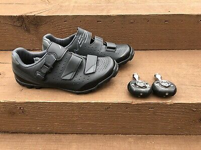 Shimano ME3 / ME301 Bicycle Cycle Bike Shoes Black Size 40 EU With Pedals NEW • 45£