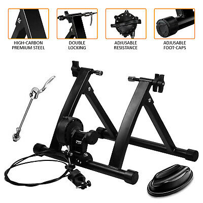 Indoor Exercise Bike Trainer Stand Portable Magnetic 6 Level Resistance Training • 53.99£