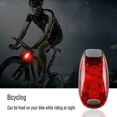 Helmet Light 5 LED Bicycle Cycling Rear Bike Running Tail Safety Warning Light • 3£