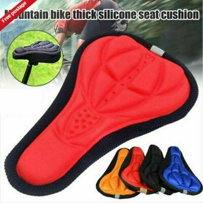 Bike Bicycle 3D Gel Saddle Seat Cover Pad Padded Soft Cycling Cushion Comfort UK • 2.49£