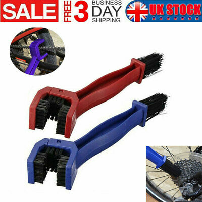Bike Chain Cleaning Brush Cycle Motorcycle Bicycle Gear Cleaner Tools Scrubber • 2.98£