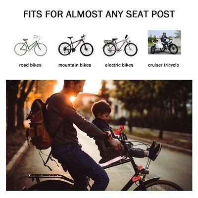 New Safety Child Baby Kids Bike Bicycle Cycle Seat Front Carrier With Handrail • 17.29£