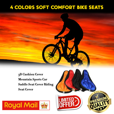 New Bike Bicycle Silicone 3D Saddle Seat Cover Pad Padded Soft Comfort Cushion • 2.99£