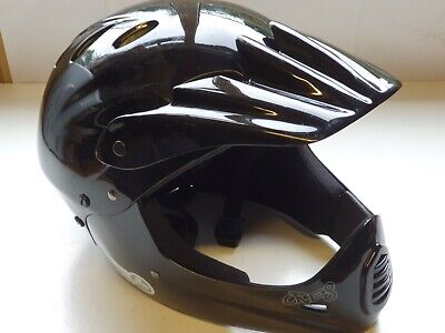 Full Face Helmet, MTB, BMX, Halfords, Cre8, 54-58cm, Black, Good Used Condition. • 17£