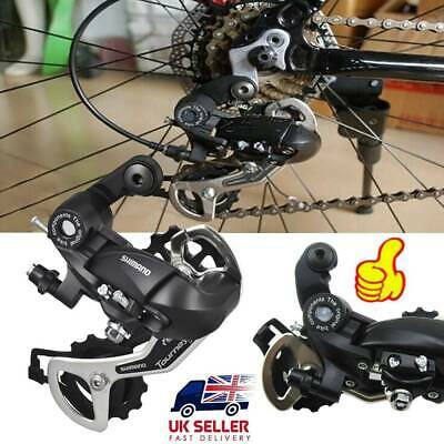 UK Shimano Tourney TX35 7/8 Speed Rear Mech Derailleur Bicycle Rear Parts Black • 8.59£