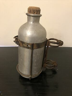Vintage 1950's R.E.G Made In Italy Aluminium Bicycle Water Bottle & Cage Coloral • 85£