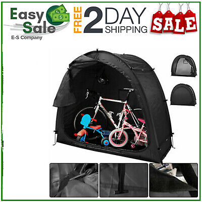 Large Tent Bicycle Bike Storage Outdoor Black Shed Garden Shelter Waterproof • 36.99£