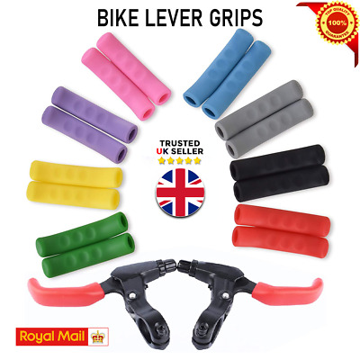 Brake Lever Grips Protectors Covers Mountain Bike Mtb Bmx Fixie Uk V • 2.99£