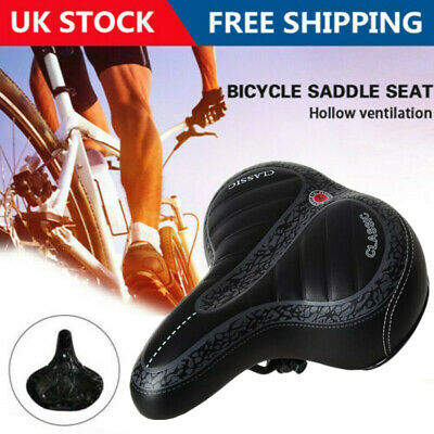 Extra Wide Comfy Cushioned Bicycle Seat Soft Padded Bike Gel Universal Saddle • 6.65£