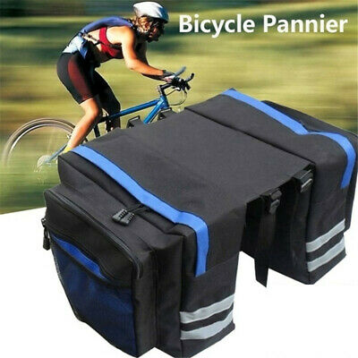 Waterproof Double Panniers Bag Bike Bicycle Cycling Rear Seat Trunk Rack Pack • 7.95£