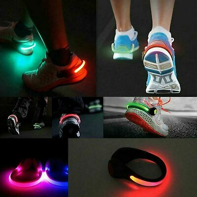 2pc Night Outdoor Safety LED Light Shoe Heel Clip Running Walking Cycling Bicycl • 4.99£