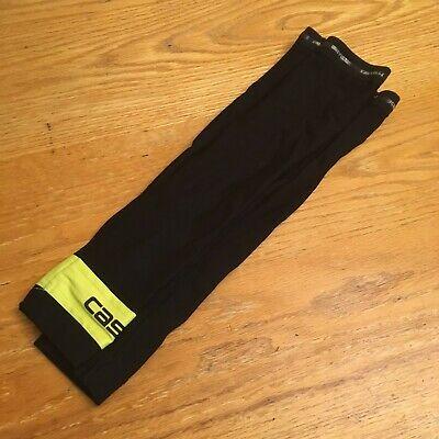 Castelli Fleece Lined Thermal Arm Warmers Winter Black Size M Hardly Worn • 0.99£