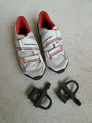 MUDDYFOX White Ladies Cycling Bike Bicycle Shoes EU 38 UK 5 • 22.10£