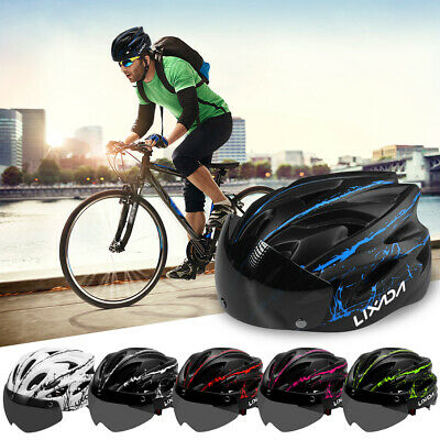 18 Vents MTB Bike Bicycle Helmet With Detachable Magnetic Goggles Taillight Y4A7 • 21.51£