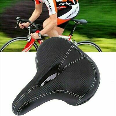 Universal MTB Extra Wide Comfy Cushioned Bike Seat Soft Pad Bicycle Gel Saddle • 6.98£