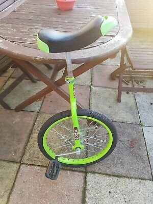 Indy Unicycle Lime Green. 20 . Flat Tyre And Broken Pedal. • 31£