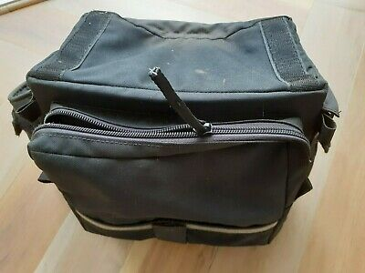 Cotton Duck Waterproof Handlebar Bag With Side Pockets And Map Holder, Black • 4.95£