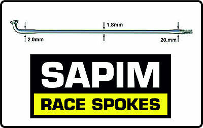 NEW Sapim Race Stainless Steel Double Butted Bicycle Spokes SILVER  *PACK OF 6* • 3.29£