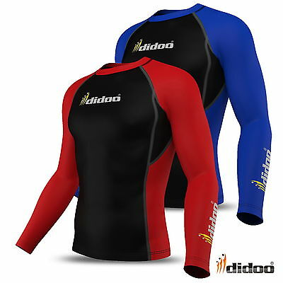Didoo Mens Compression Base Layer Full Sleeve Thermal Top Body Armour Cold Wear • 12.95£