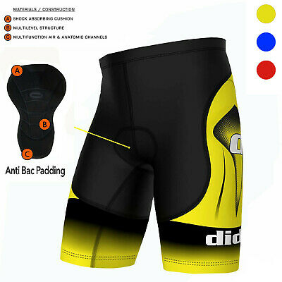Didoo Mens Cycling Shorts Bicycle Underwear MTB Padded Armour Bike Tight Pants • 15.49£