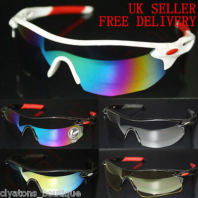 Mens Sunglasses Cycling Bicycle Bike Outdoor Sports Fishing Driving Glasses • 8.95£