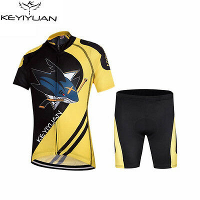 Children's Cycling Jersey Kit Bike And Shorts Set Kids Bicycle Clothing Shark • 30.99£