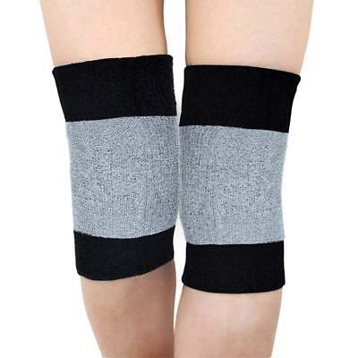 Knee Warmer Muscle Joint Care Compression Bandage Black/Grey Breathable Stretch • 6.95£